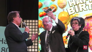 Oscar Goodman 80th birthday on Fremont – VIDEO