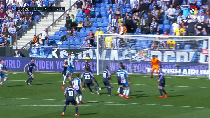 LaLiga: Espanyol - Valladolid. Gol de Mario Hermoso (2-1)