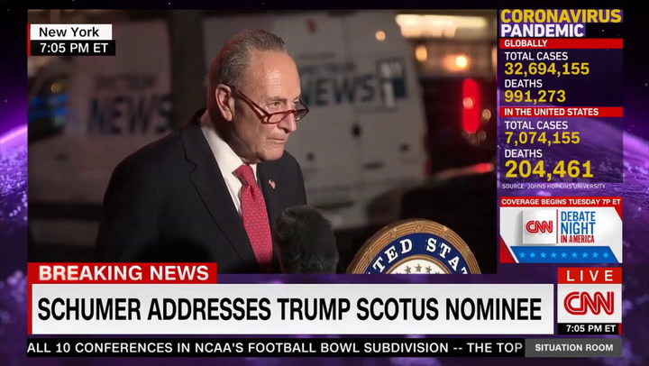 Schumer: Senate Democrats 'United in Opposition' to Barrett