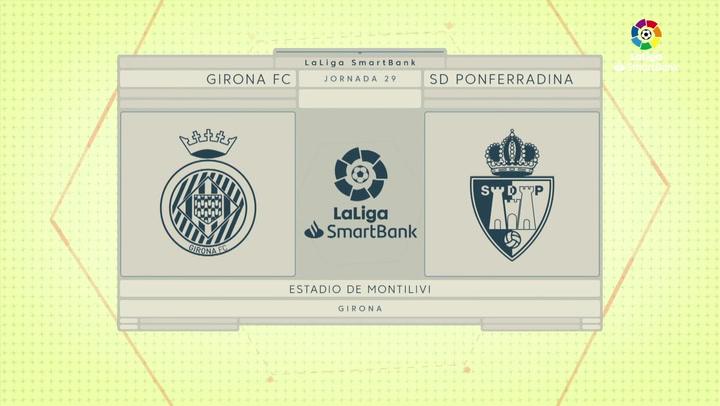 LaLiga SmartBank (J29): Resumen y goles del Girona 2-0 Ponferradina