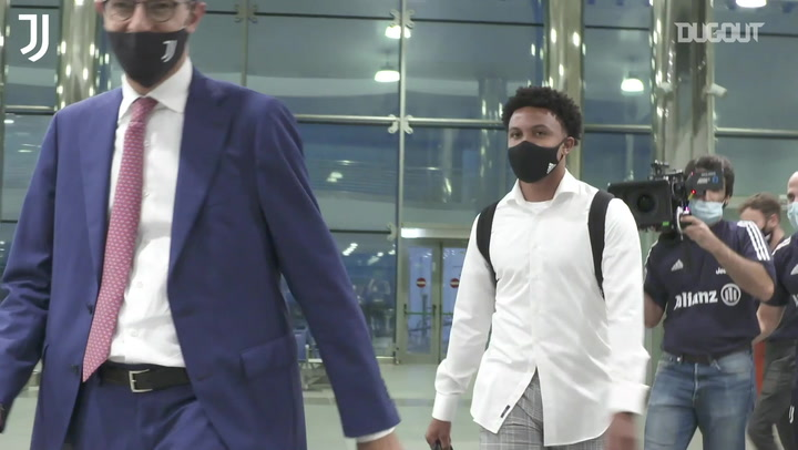 Weston McKennie arrives in Turin ahead of Juventus switch
