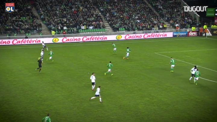 All Lacazette's goals vs Saint-Etienne