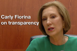 Carly Fiorina on transparency