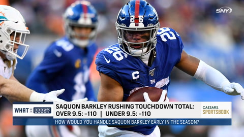 How should Saquon Barkley be handled by the Giants early in the season? | What Are The Odds?