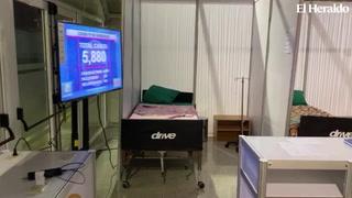 Así se encuentra la sala de aislamiento para pacientes con covid-19 en la UNAH