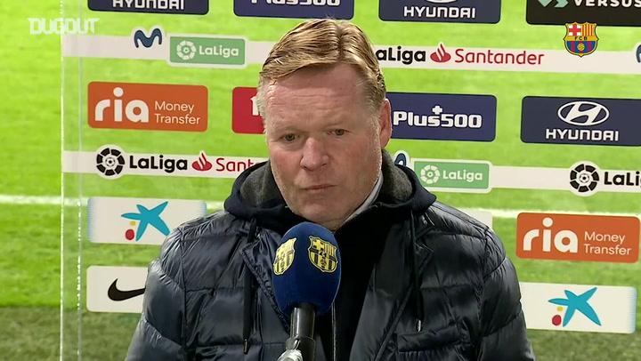 Koeman: 'We didn't create a lot of chances'