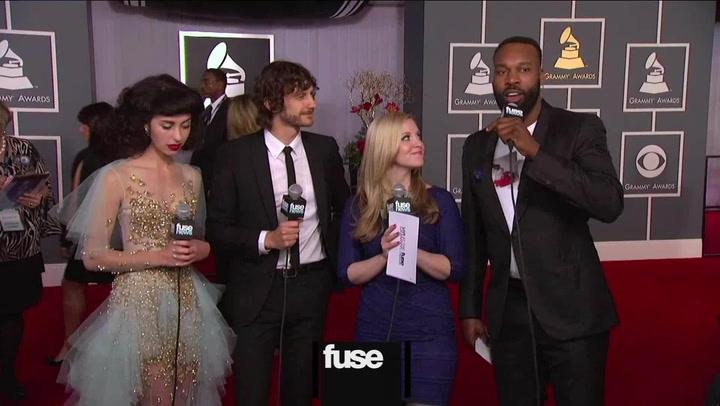 Interviews: Grammys: Kimbra and Gotye