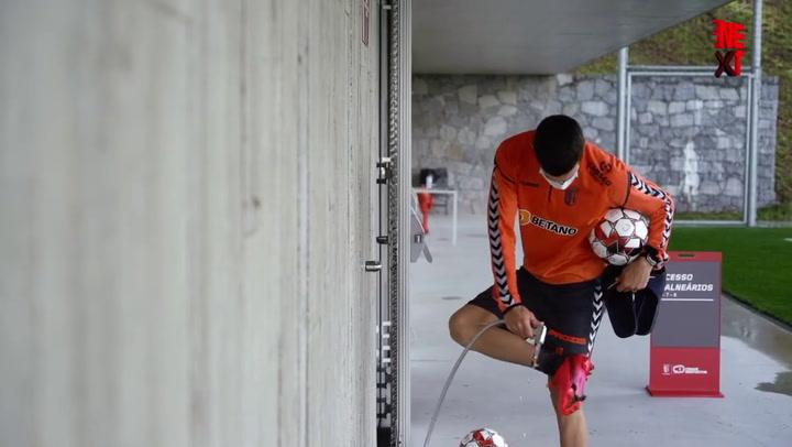 El Sporting de Braga de Trincao vuelve a los entrenamientos