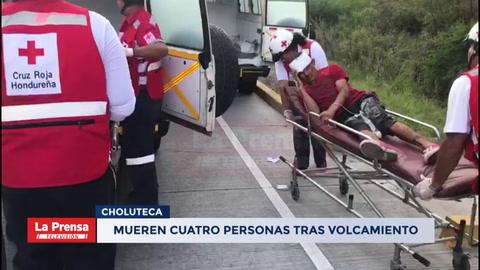 Mueren cuatro personas tras volcamiento en el sur de Honduras