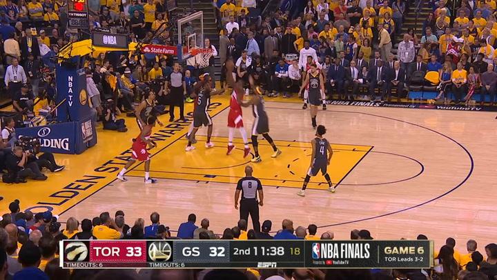 Las 5 mejores jugadas del sexto partido de la Final de la NBA Golden State Warriors-Toronto Raptors el 14 de junio de 2019