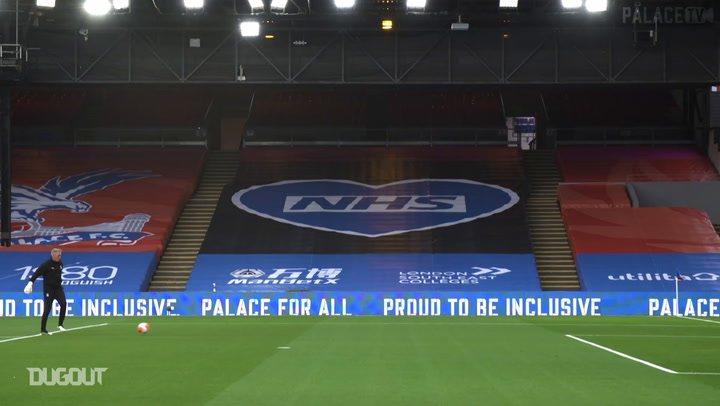Pitchside view: Crystal Palace's first game back at Selhurst Park