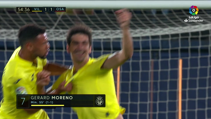 Gol de Gerard Moreno (1-1) en el Villarreal 1-2 Osasuna