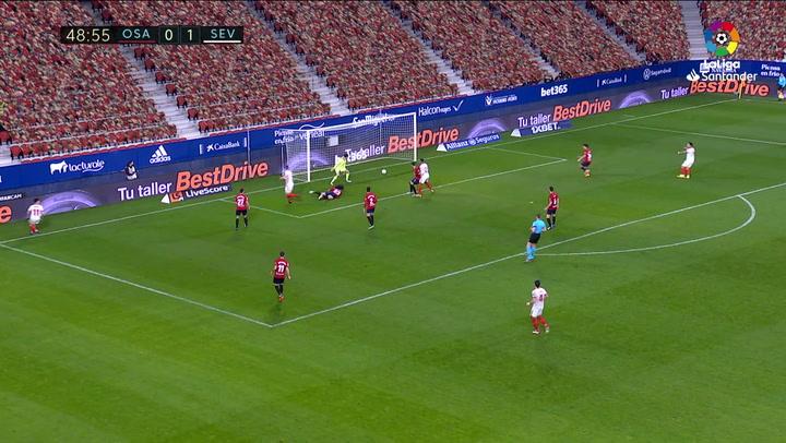 Gol de De Jong (0-2) en el Osasuna 0-2 Sevilla