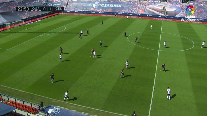 Gol de Enric Gallego (1-1) en el Osasuna 2-1 Celta