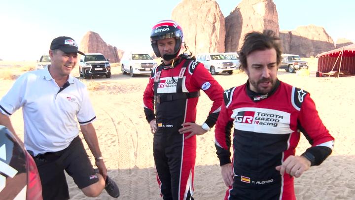 Día de test de Fernando Alonso antes de competir en el Al Ula-Neom Rally