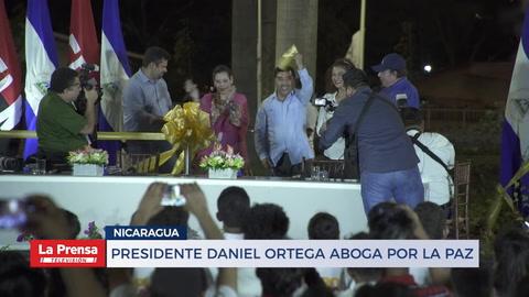 Presidente Daneil Ortega aboga por la paz