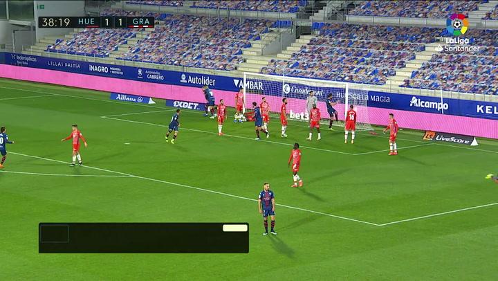 Gol de Pulido (2-1) en el Huesca 3-2 Granada