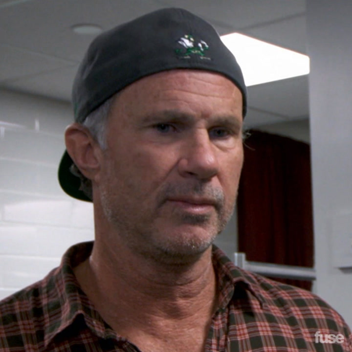 Chad Smith of the Red Hot Chili Peppers on the Pepsi Super Bowl XLVIII Halftime Show