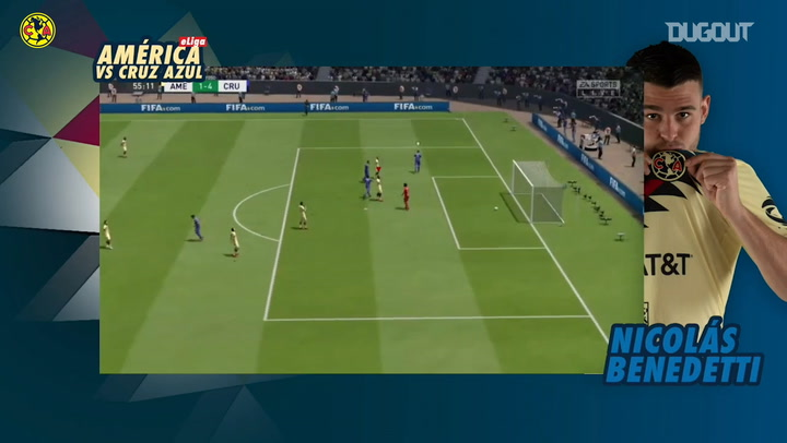 Club América's game vs Cruz Azul in the eLiga MX