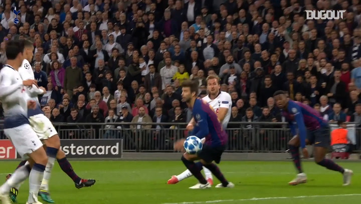 Harry Kane's 2018-19 Champions League group stage goals