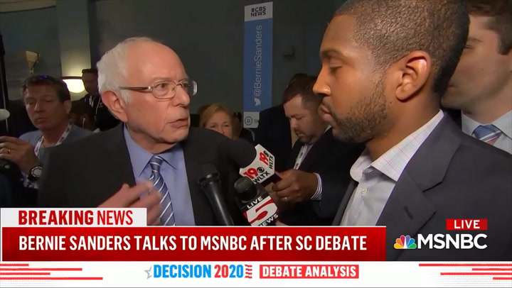 Sanders on Clashes with Debate Audience: You Had to Be Rich to Get a Ticket