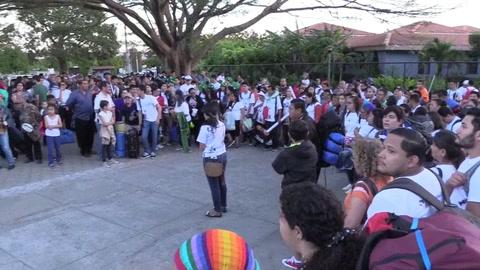Peregrinos de Nicaragua parten hacia Panamá para participar en la JMJ