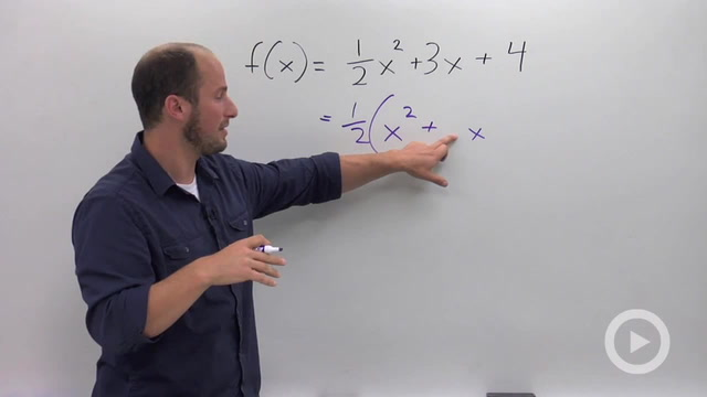 Finding the Vertex of a Parabola by Completing the Square - Problem 3