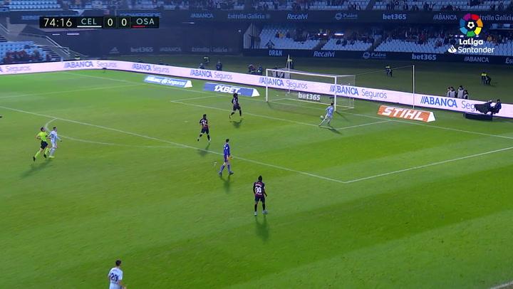 Gol de Santi Mina (1-0) en el Celta 1-1 Osasuna