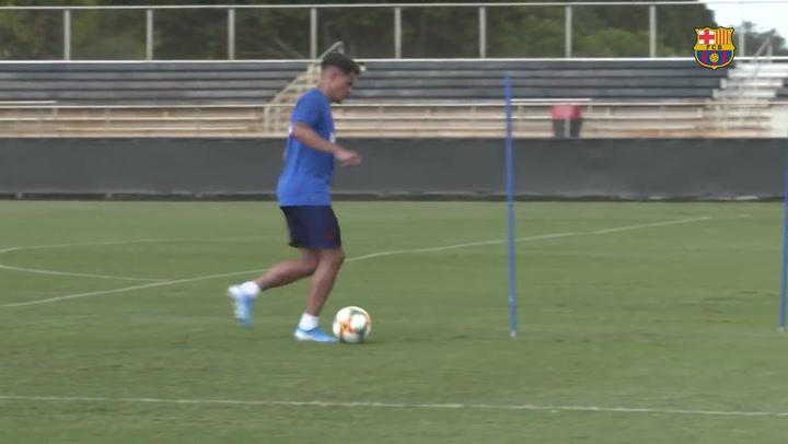 Entrenamiento de Coutinho, Arthur, Vidal y Peña en Miami