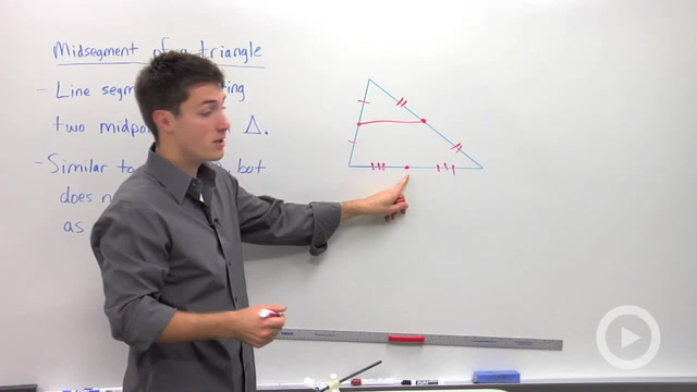Constructing a Triangle Midsegment