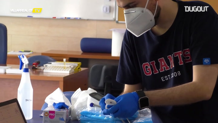 Villarreal CF players go through medical checks