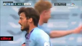 ¡A lo Cristiano Ronaldo! David Silva anota golazo al ángulo de tiro libre con Manchester City