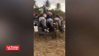 Pobladores intentan robar droga decomisada por militares en La Mosquitia