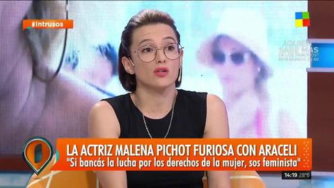 Malena Pichot: Lo que dijo Araceli González me enojó