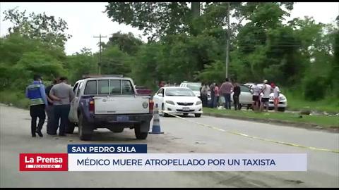Médico muere atropellado por un taxista cuando practicaba ciclismo en San Pedro Sula
