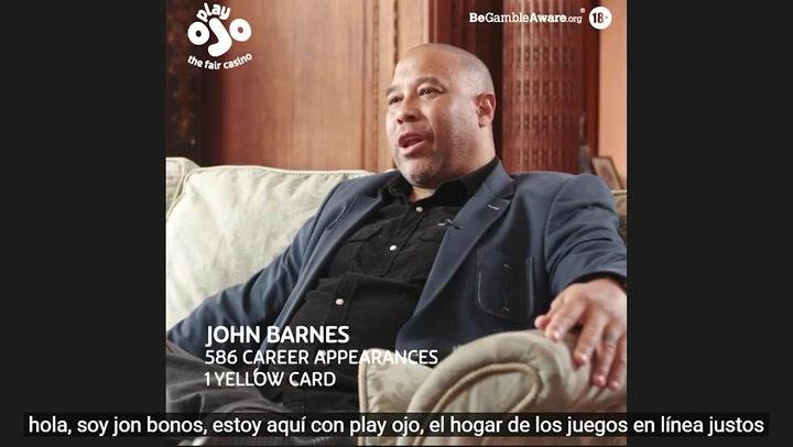 Así ha sido la entrevista a John Barnes para PlayOJO