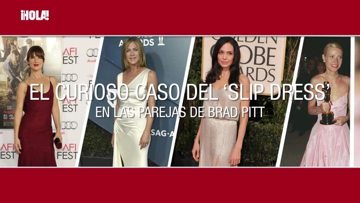 De Jennifer Aniston a Angelina Jolie :el curioso caso del \'slip dress\' en las parejas de Brad Pitt