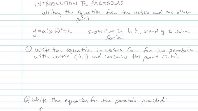 Introduction to Parabolas - Problem 5