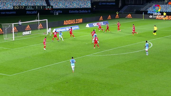 Gol de Baeza (2-1) en el Celta 3-1 Granada