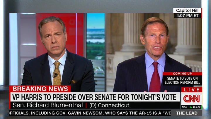 Dem Sen. Blumenthal: Filibuster, Which Dems Have Used 'a Number of Times,' Is 'Abhorrent'