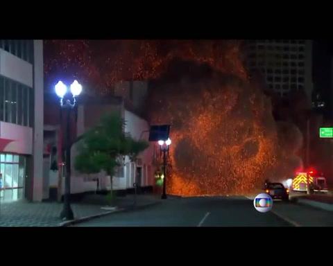 El video del momento en que colapsa el edificio de 24 pisos en San Pablo