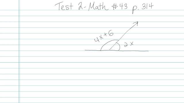 Test 2 - Math - Question 43