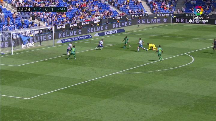 Gol de Willian José (0-2) en el Espanyol 1-3 Real Sociedad