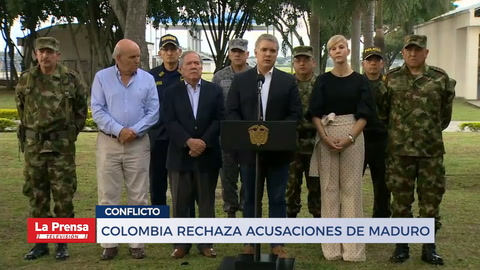 Colombia rechaza acusaciones de Maduro