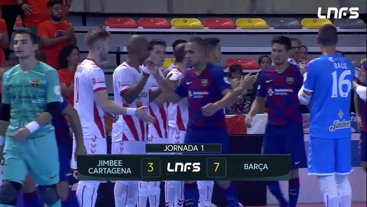 El resumen del Jimbee Cartagena - Barça