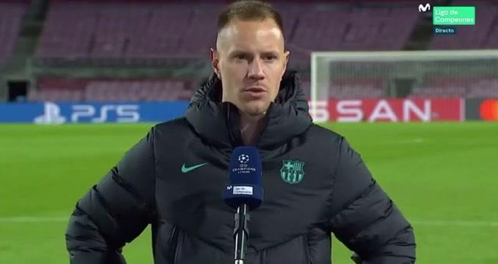 Ter Stegen, muy crítico tras el partido contra la Juventus