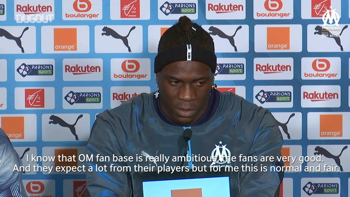 Mario Balotelli's First Press Conference As A Marseille Player