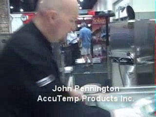 Western 2009: AccuTemp demos Accu-steam Griddle