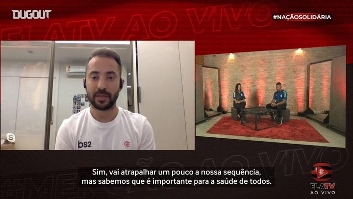 E. Ribeiro destaca importância, mas diz que parada atrapalha sequência do Fla