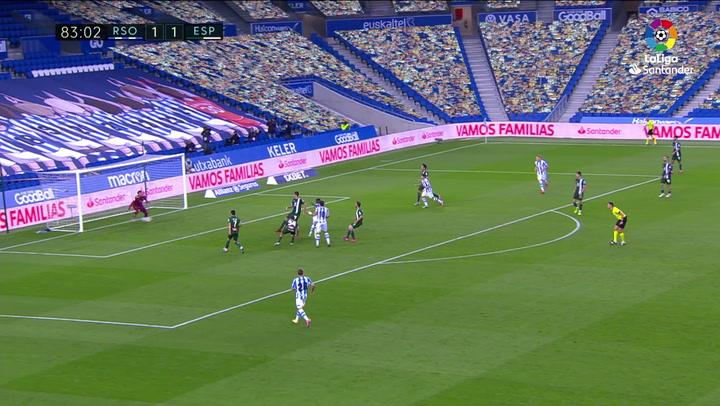 Gol de Isak (2-1) en el Real Sociedad 2-1 Espanyol